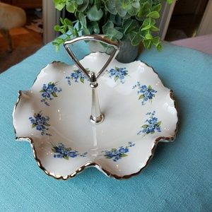 Other - Vintage blue floral candy dish